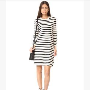 THEORY Lemdrella Prosecco Stripe Sweater Dress